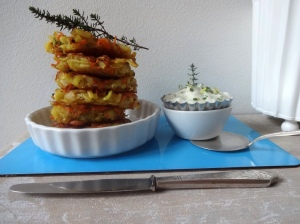 Gemüse-Rösti mit Zitronen-Kräuter-Quark 2
