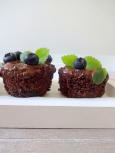 Blaubeer-Schoko-Muffin vegan