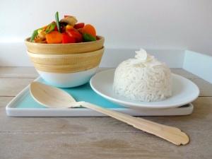 Thai-Gemüse-Erdnusssoße