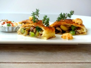 Pilz-Kartoffel-Strudel