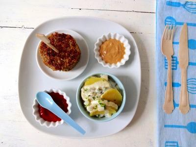 vegane Frikadellen mit Kartoffelsalat